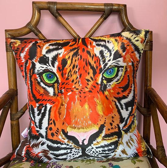 Tiger Silk Cushion SAMPLE 1 LEFT
