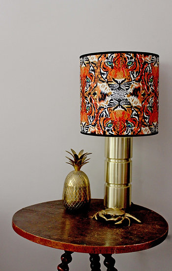 TRYPTIC TIGERS LAMPSHADE