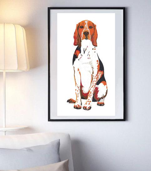 HOUND DOG SALE LIMITED EDITION SIGNED ART PRINT 2 LEFT A2