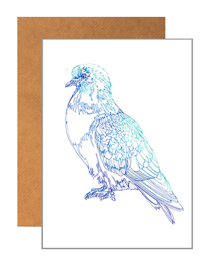 PETE THE PIGEON GREETING CARD