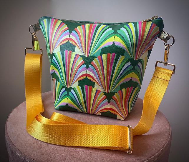 Rainbow Shell Vegan Leather Handbag
