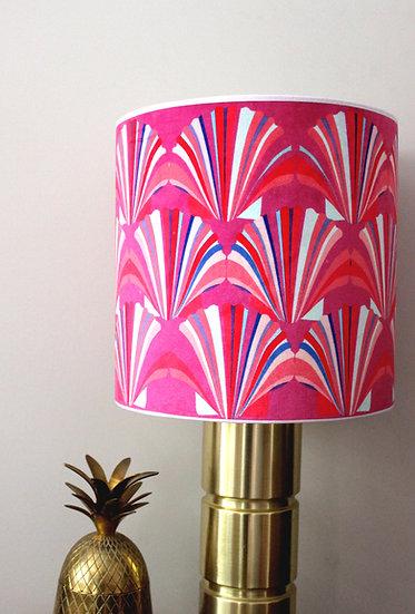PINK SHELL VELVET LAMPSHADE