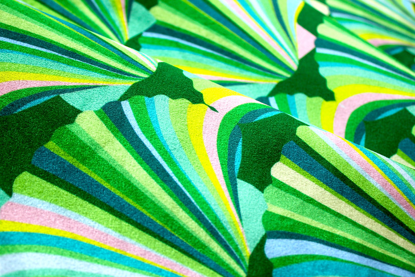 green art deco fabric