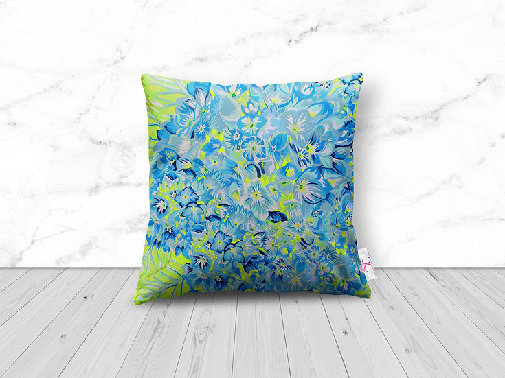 HYDRANGEA LIME CUSHION