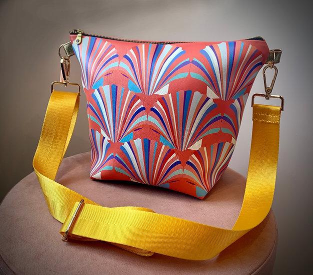 Coral Shell Vegan Leather Handbag PRESS SAMPLE ONLY 1
