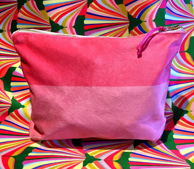 Sumptuous velvet cosmetic bag