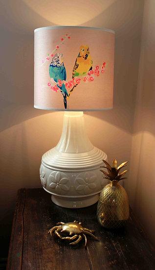LOVING BUDGIES LAMPSHADE