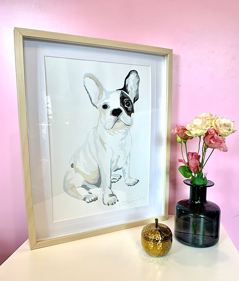 A3 Bulldog Limited Edition Print Framed in A2. 1 LEFT