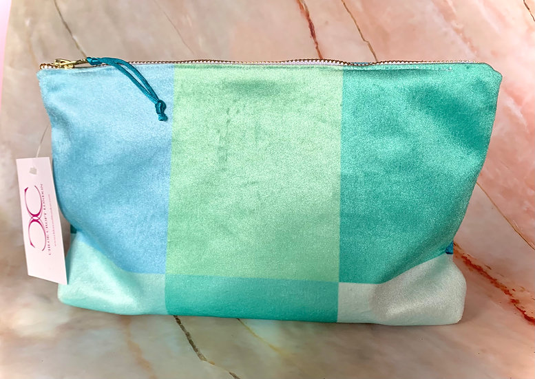 Mint squares Cosmetic Bag SAMPLE 1 LEFT