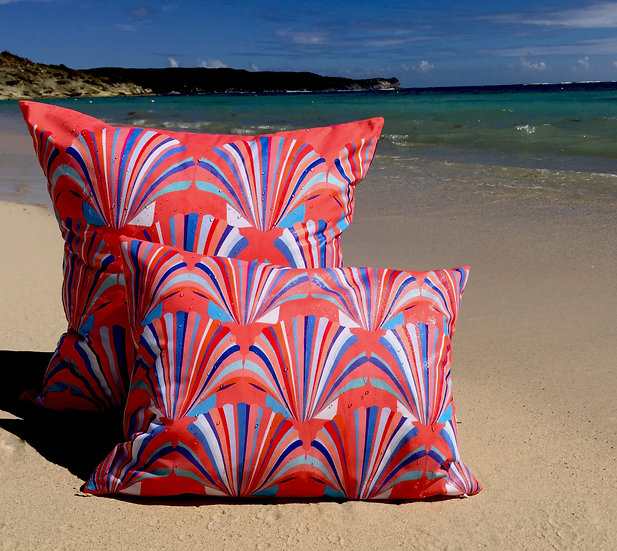 Coral shell weatherproof cushion