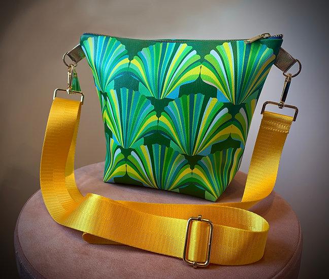 Green Shell Vegan Leather Handbag