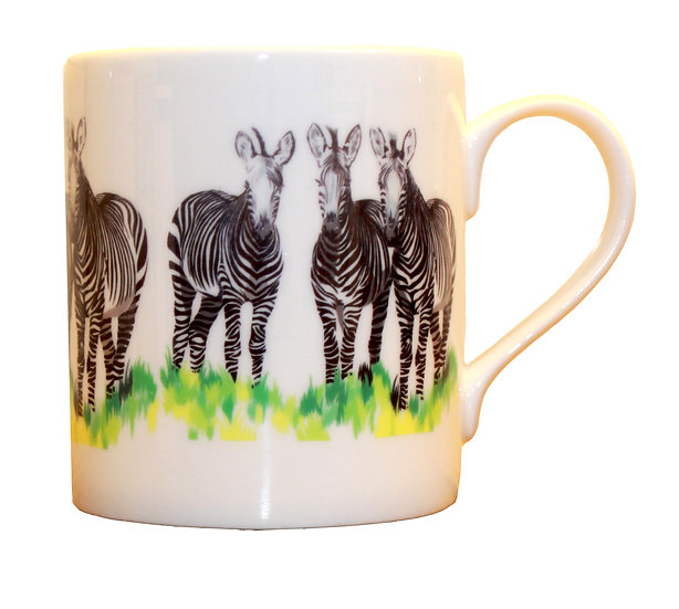 ZEBRA BONE CHINA MUG