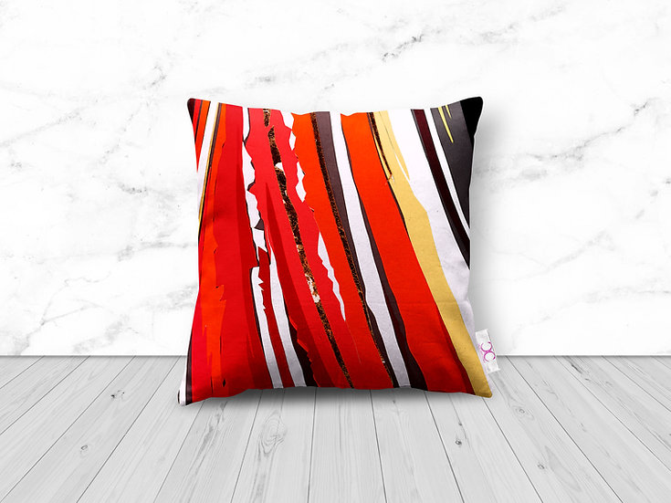 ABSTRACT PUFFIN CUSHION