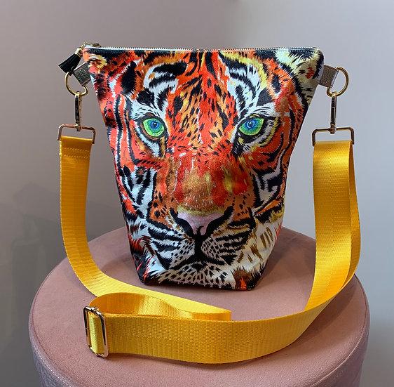 Tiger Velvet Handbag