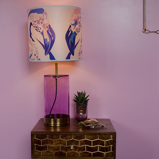 LILAC LAMPSHADE & SEPARATELY POOKY WISTERIA PINK LAMP BASE