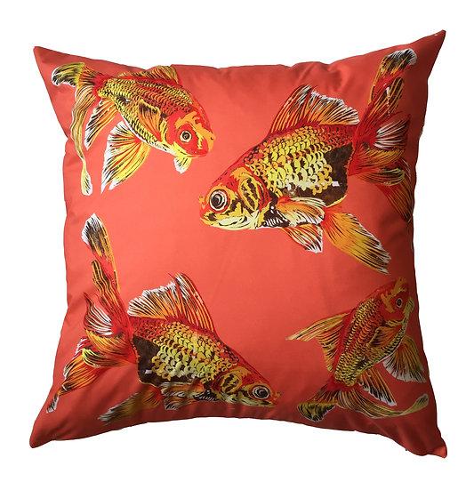 Goldfish Gaggle shell weatherproof cushion