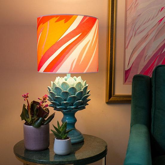 AMARANTH FLAMINGOS LAMPSHADE & SEPARATELY POOKY ARTUR CERAMIC BASE