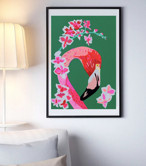 FLAMINGO AND FLOWERS SALE 35% OFF