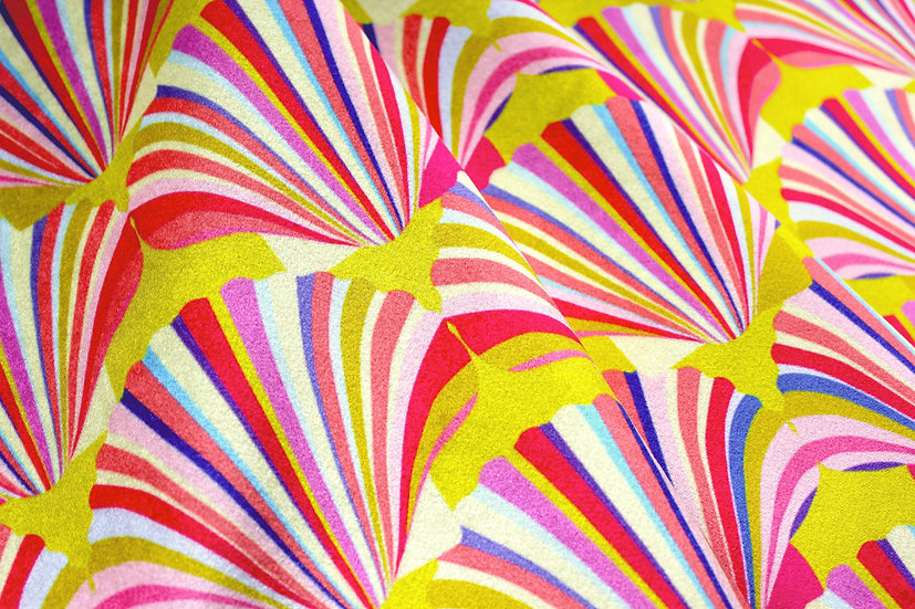Yellow art deco fabric