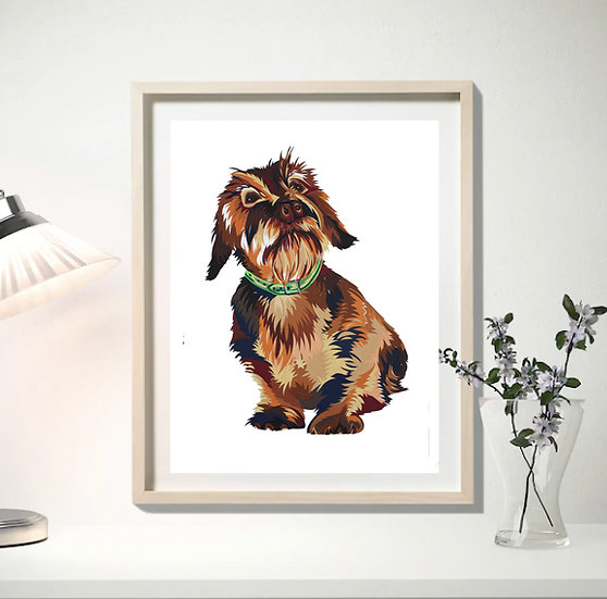 DASCHUND RIGHT LIMITED EDITION SIGNED GICLEE ART PRINT