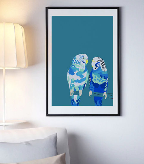 BLUE BUDGIES BLUE