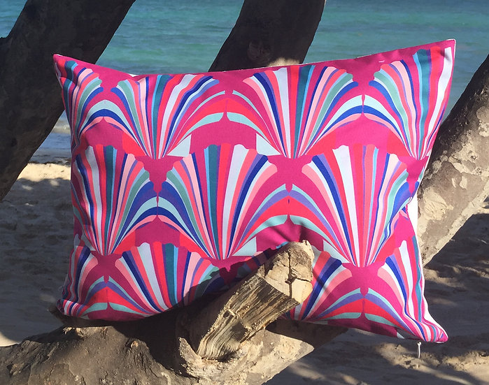 Fuchsia shell weatherproof cushion