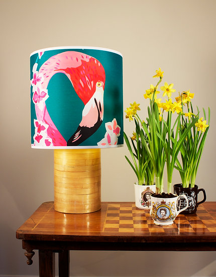 FLAMINGOS AND FLOWERS LAMPSHADE  4 LEFT!