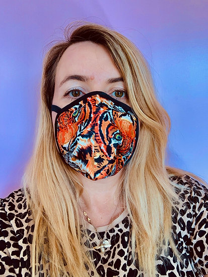 Tiger silk face mask