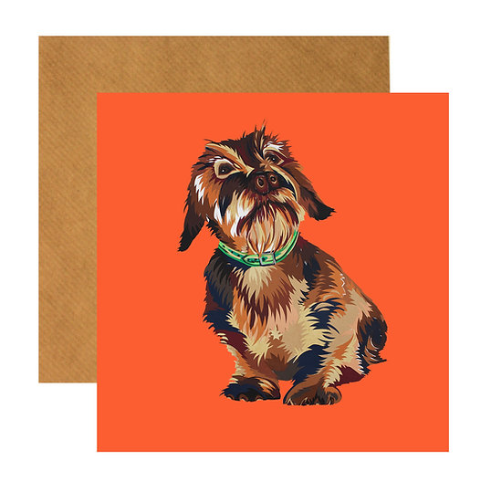 DASHING DASCHUND GREETING CARD