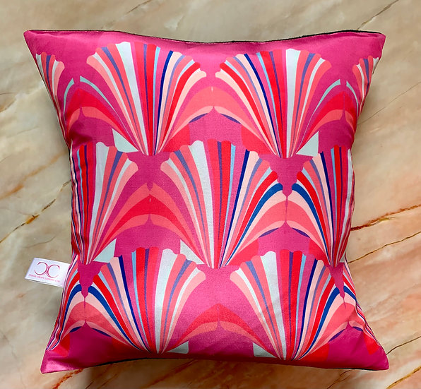 Silk Pink Shell Cushion SAMPLE 1 LEFT