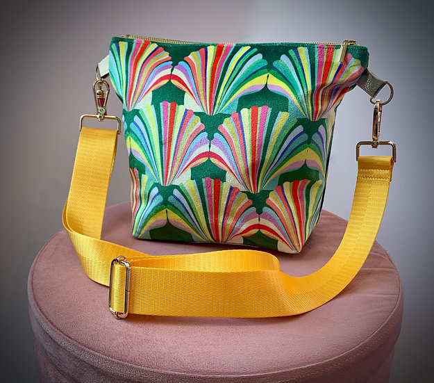 Rainbow Shell Velvet Handbag