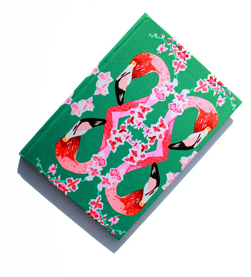 FLAMINGOS AND FLOWERS REPEAT NOTEBOOK