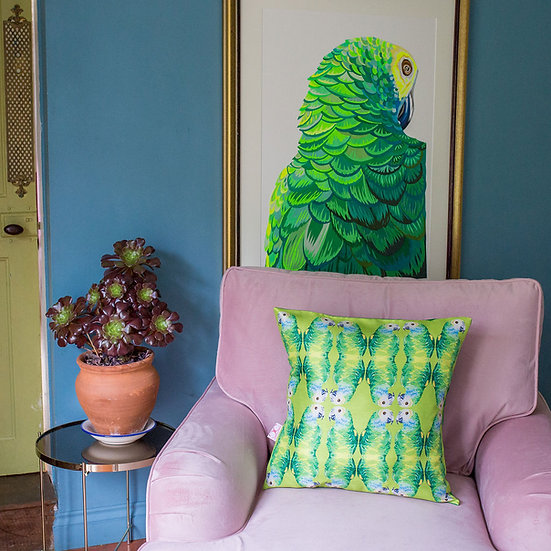 PARALLEL PARROTS CUSHION