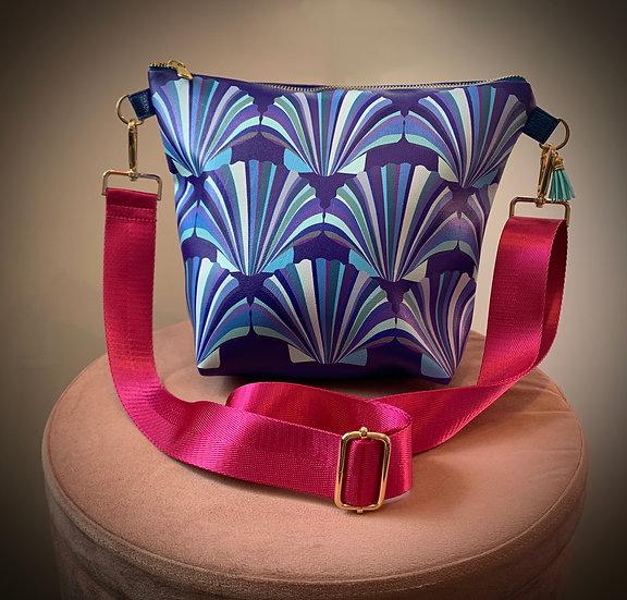 Blue Shell Vegan Leather Handbag
