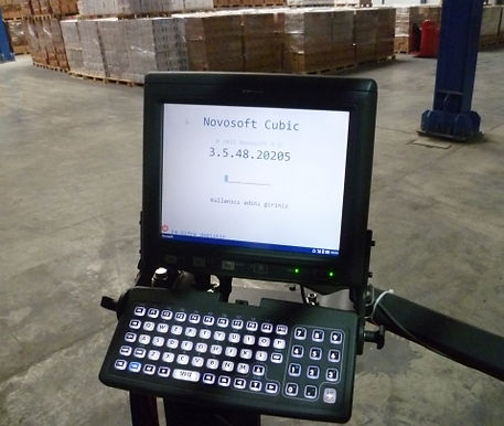 cubic wms, warehouse management system, forklift terminal, barcode system