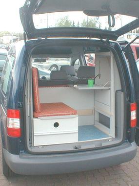 VW Caddy Picknickpostion