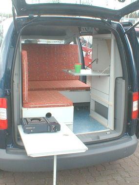 VW Caddy Aussentisch