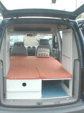 VW Caddy Bett