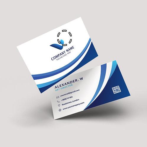 Cartão de Visita | Couchê 300g | Lam. Fosca, Verniz Local Fr. e Vr.