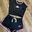 Thumbnail: WOMEN'S TWO PIECES SET BOOTY SHORT W/ ONE DEF LUV LOGO!