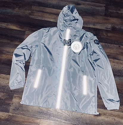 DFC windbreaker hooded jackets  w/ reflective zippers and logos