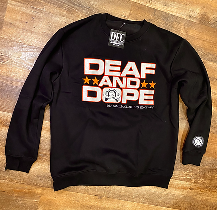 """""""Deaf and Dope"""" with 210,000 stitches  embroidered sweater!"""