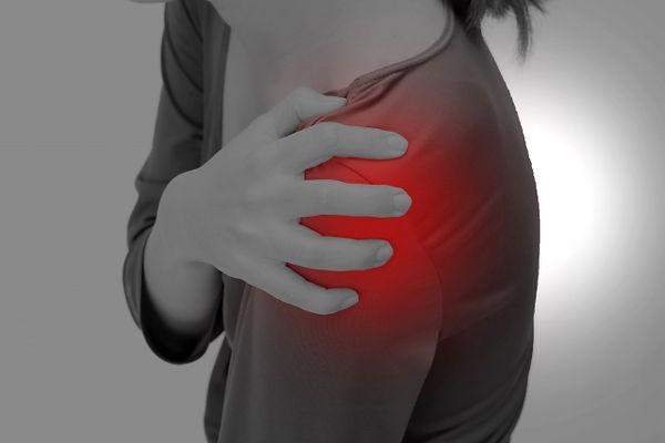 肩の痛みのイメージ図