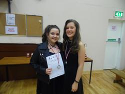 Alanna Patton and Faith Molloy, 2nd Place, U17 C14