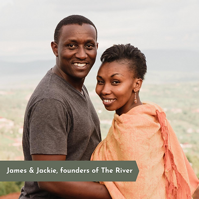 James & Jackie founders of the river organization. Two Rwandan people working in Rwanda.