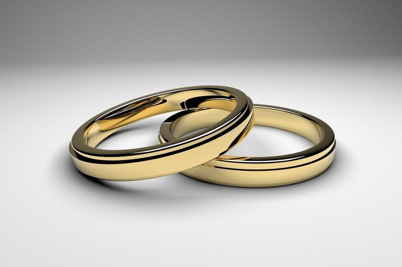 two interlaced wedding rings
