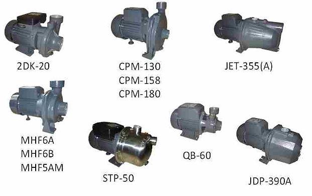 2DK-20, MHF6A, MHF6B, MHF5AM, CPM-180, C