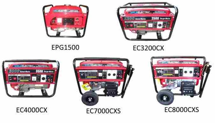EPG1500, EC3200CXS, EC4000CX, EC7000CXS,