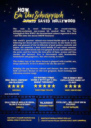 How Eva Von Schnippisch Saved Hollywood