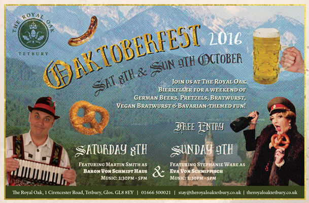 The Royal Oak_Tetbury_Oktoberfest, Octoberfest, German Cabaret, Bavarian Cabaret, Eva Von Schnippisch